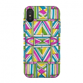 Geometric Pattern by Laura K Maxwell (geometric,bright,triangles,rectangles)