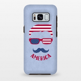 Galaxy S8 plus  American Hipster Face 4th July by
