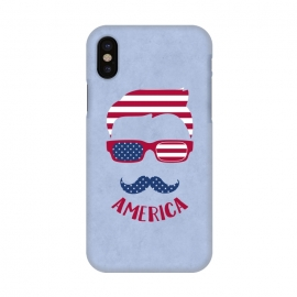 iPhone X  American Hipster Face 4th July by Andrea Haase