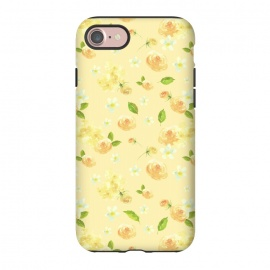 iPhone 8/7  Lovely Yellow Roses Pattern by Utart ( blossom, spring, flower, pink, nature, season, floral, petal, beautiful, bloom, flora, blooming, natural, beauty, botany, summer, springtime, botanical, romantic, vintage, flowers, retro, pattern, girly, trendy, modern, fashion, utart, woman, women, feminine, girl, girls, chic, victorian,rose,roses)
