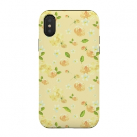 iPhone Xs / X  Lovely Yellow Roses Pattern by Utart