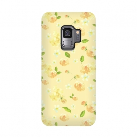Galaxy S9  Lovely Yellow Roses Pattern by Utart ( blossom, spring, flower, pink, nature, season, floral, petal, beautiful, bloom, flora, blooming, natural, beauty, botany, summer, springtime, botanical, romantic, vintage, flowers, retro, pattern, girly, trendy, modern, fashion, utart, woman, women, feminine, girl, girls, chic, victorian,rose,roses)