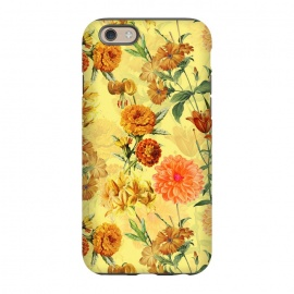 iPhone 6/6s  Yellow vintage Flower Pattern by Utart