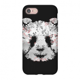 iPhone 8/7  Dark Forest Panda by Sitchko Igor (Dark, Animals, Animal, Birds, Horror, Nature, Mixed art, Illusion, Wild, Bear, Panda, White, black-&-white, black-white, Sacura, Trees, Digital, Environment, Cute)