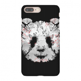 iPhone 8/7 plus  Dark Forest Panda by  (Dark, Animals, Animal, Birds, Horror, Nature, Mixed art, Illusion, Wild, Bear, Panda, White, black-&-white, black-white, Sacura, Trees, Digital, Environment, Cute)