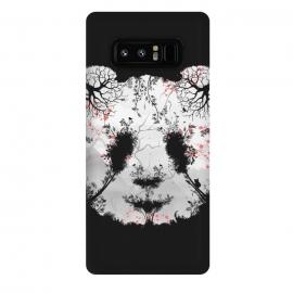 Galaxy Note 8  Dark Forest Panda by  (Dark, Animals, Animal, Birds, Horror, Nature, Mixed art, Illusion, Wild, Bear, Panda, White, black-&-white, black-white, Sacura, Trees, Digital, Environment, Cute)