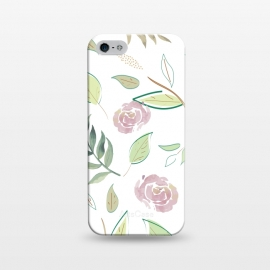 iPhone 5/5E/5s  Festive Watercolor Flowers 3 by Bledi