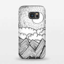 Galaxy S7  Mountains and Clouds by Laura K Maxwell