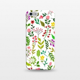 iPhone 5/5E/5s  Spring Is Here by Uma Prabhakar Gokhale (graphic design, pattern, floral, nature, spring, colorful, botanical, flowers, blossom, exotic, repeatable, leaves, bloom)