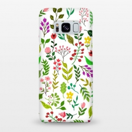 Galaxy S8+  Spring Is Here by Uma Prabhakar Gokhale (graphic design, pattern, floral, nature, spring, colorful, botanical, flowers, blossom, exotic, repeatable, leaves, bloom)