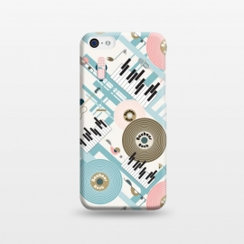iPhone 5C  Bauhaus Rock - Pink and Blue by Paula Ohreen