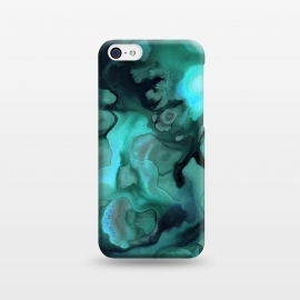 iPhone 5C  Ebb and Flow in Emerald by Micklyn Le Feuvre