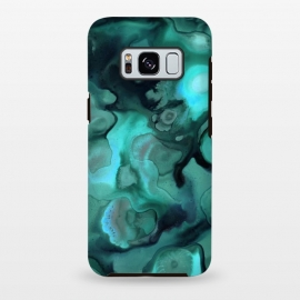Galaxy S8 plus  Ebb and Flow in Emerald by  (emerald,alcohol ink,abstract,malachite,green,texture,organic,shapes,paint,flow,fluid,pour,acrylic,micklyn,marbling)