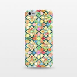 iPhone 5/5E/5s  Gilded Moroccan Mosaic Tiles by Micklyn Le Feuvre