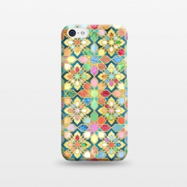 iPhone 5C  Gilded Moroccan Mosaic Tiles by Micklyn Le Feuvre
