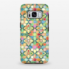 Galaxy S8 plus  Gilded Moroccan Mosaic Tiles by