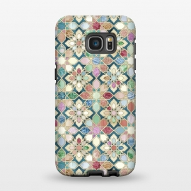 Galaxy S7 EDGE  Muted Moroccan Mosaic Tiles by Micklyn Le Feuvre