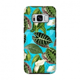Fresh tropical Flowers and Leaves Pattern by Utart