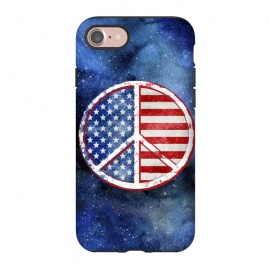 iPhone 8/7  Peace Sign Stars and Stripes USA Flag by Andrea Haase