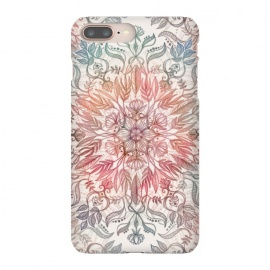 iPhone 8/7 plus  Autumn Spice Mandala in Coral and Cream by