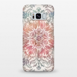 Galaxy S8+  Autumn Spice Mandala in Coral and Cream by Micklyn Le Feuvre