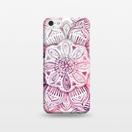iPhone 5C  Burgundy Blush Watercolor Mandala by Micklyn Le Feuvre