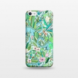 iPhone 5C  Summer Floral with Dinosaurs by Micklyn Le Feuvre