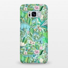 Galaxy S8+  Summer Floral with Dinosaurs by Micklyn Le Feuvre