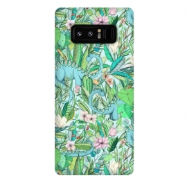 Galaxy Note 8  Summer Floral with Dinosaurs by Micklyn Le Feuvre