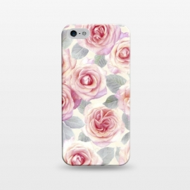 iPhone 5/5E/5s  Painted Pink and Mauve Roses by Micklyn Le Feuvre