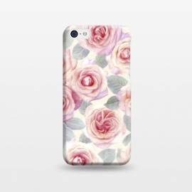iPhone 5C  Painted Pink and Mauve Roses by Micklyn Le Feuvre