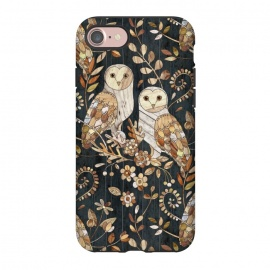 iPhone 8/7  Wooden Wonderland Barn Owl Collage by Micklyn Le Feuvre