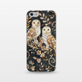 iPhone 5/5E/5s  Wooden Wonderland Barn Owl Collage by Micklyn Le Feuvre