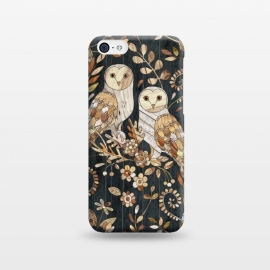 iPhone 5C  Wooden Wonderland Barn Owl Collage by Micklyn Le Feuvre