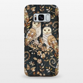 Galaxy S8 plus  Wooden Wonderland Barn Owl Collage by