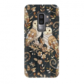 Galaxy S9 plus  Wooden Wonderland Barn Owl Collage by