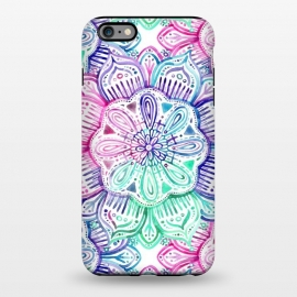 iPhone 6/6s plus  Watercolor Mandala in Mint, Magenta and Purple by Micklyn Le Feuvre (watercolor, mandala,medallion,micklyn,rainbow,pastels,colorful,purple,mint green,magenta,flower,boho,bohemian,girly,painted,hand)
