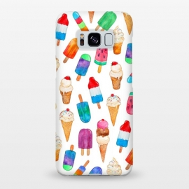 Galaxy S8+  Summer Pops and Ice Cream Dreams on White by Micklyn Le Feuvre