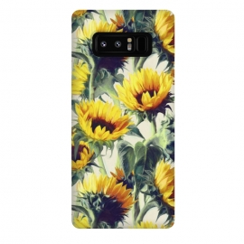 Galaxy Note 8  Sunflowers Forever by Micklyn Le Feuvre