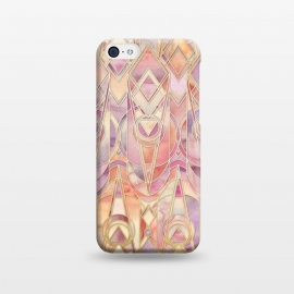 Glowing Coral and Amethyst Art Deco Pattern by Micklyn Le Feuvre