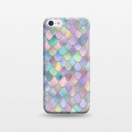 iPhone 5C  Lavender and Pink Wonky Mermaid Scales by Utart
