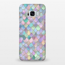 Galaxy S8+  Lavender and Pink Wonky Mermaid Scales by Utart
