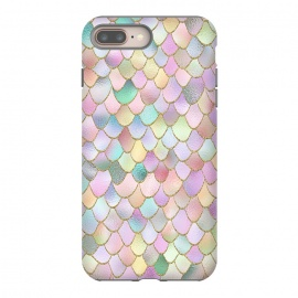 Blush Rose Gold Wonky Mermaid Scales by Utart