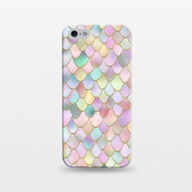 iPhone 5/5E/5s  Blush Rose Gold Wonky Mermaid Scales by Utart