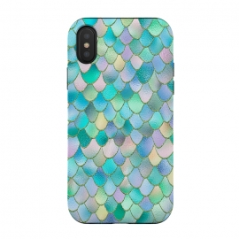 Teal and Green Wonky Metal Mermaid Scales by Utart