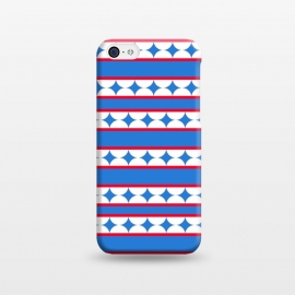 iPhone 5C  LINES STARS PATTERN by MALLIKA