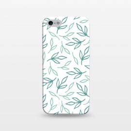 iPhone 5/5E/5s  Bright Aqua Leaves by ArtPrInk