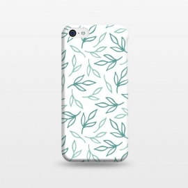 iPhone 5C  Bright Aqua Leaves by ArtPrInk