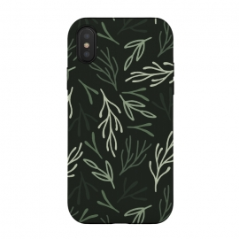 iPhone Xs / X  Dark Forest Leaves by