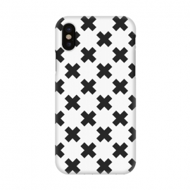 iPhone X  Scandinavian Crosses Black by ArtPrInk